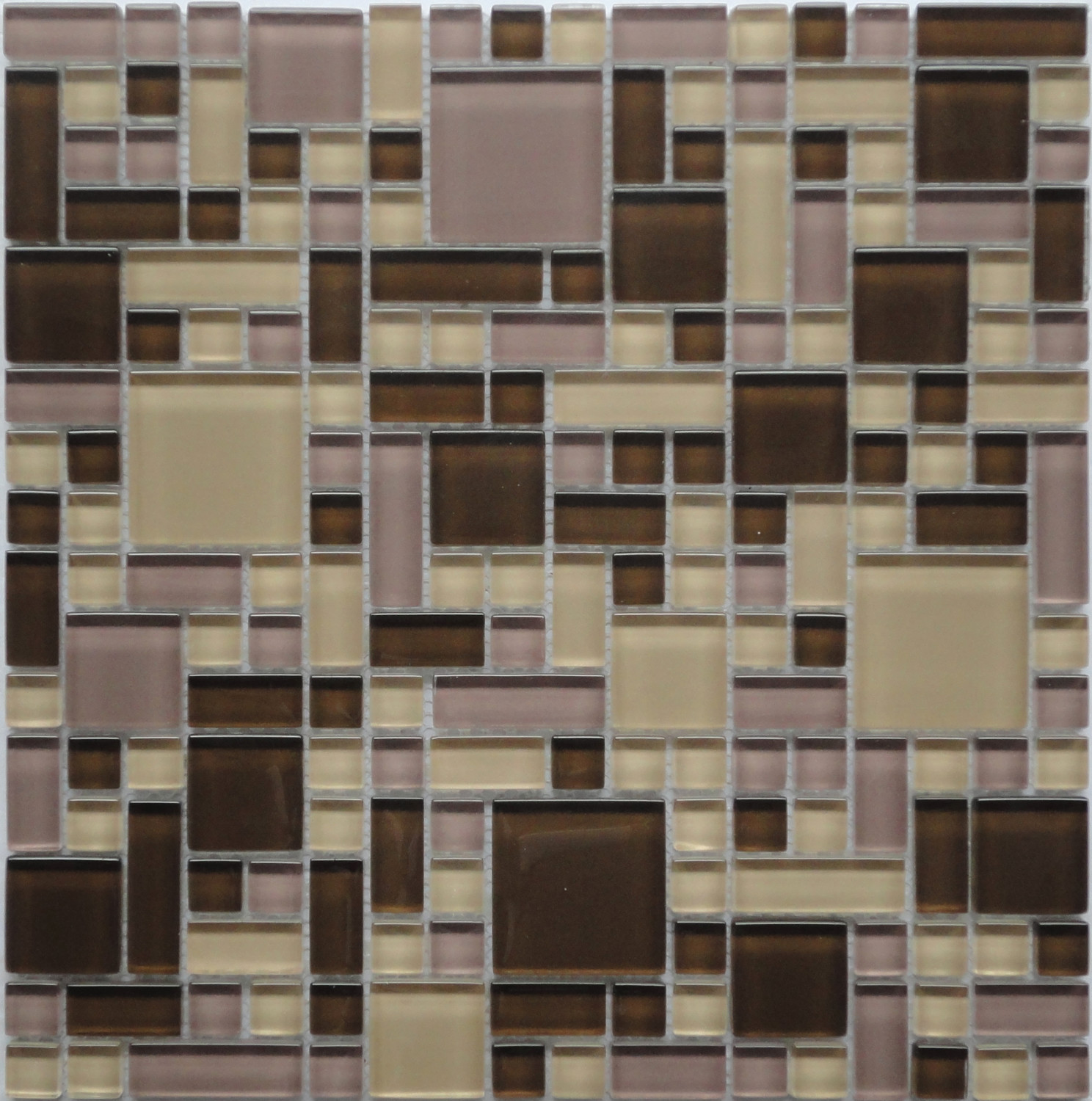 Cassava root gp03 brown puzzle glass mosaic tile cassava root beige brown purple geometric glass kitchen backsplash mosaic tile gp03 by lada dailygadgetfo Gallery